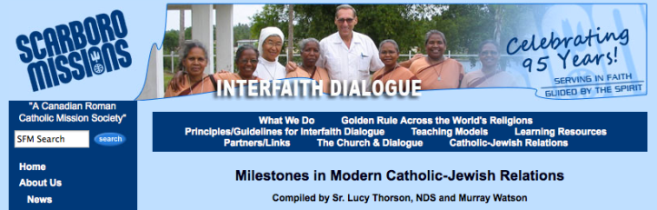 Milestones in Modern Catholic-Jewish Relations