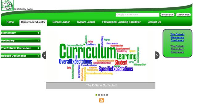 Curriculum Gains Website